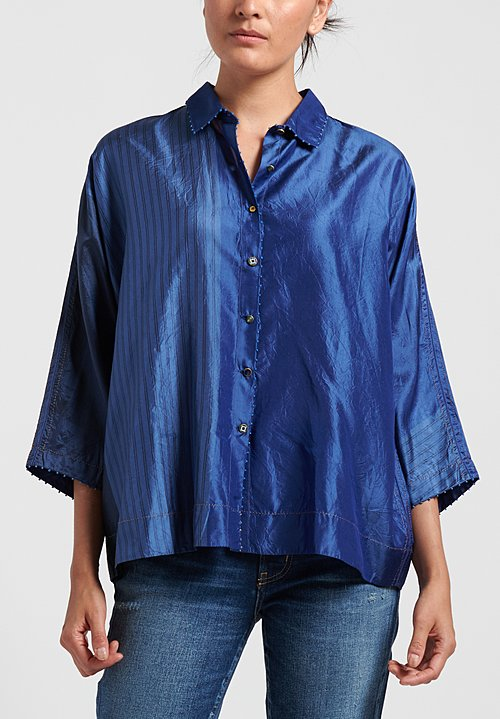 Pero Silk Printed Short Shirt