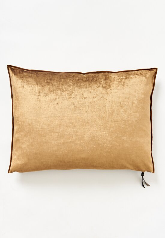 Maison de Vacances Large Royal Velvet Pillow Havane
