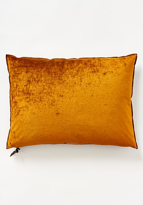 Maison de Vacances Large Royal Velvet Pillow Ambre