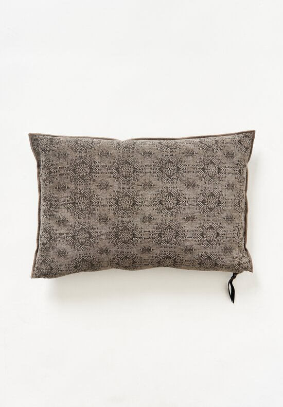 Maison de Vacances Stone Washed Jacquard Pillow Kilim Ecorce