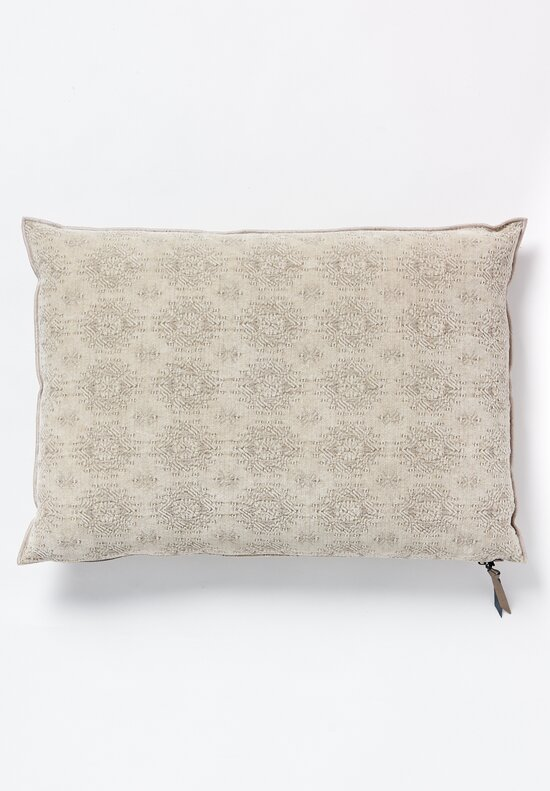 Maison de Vacances Large Stone Washed Jacquard Pillow Kilim Ciment