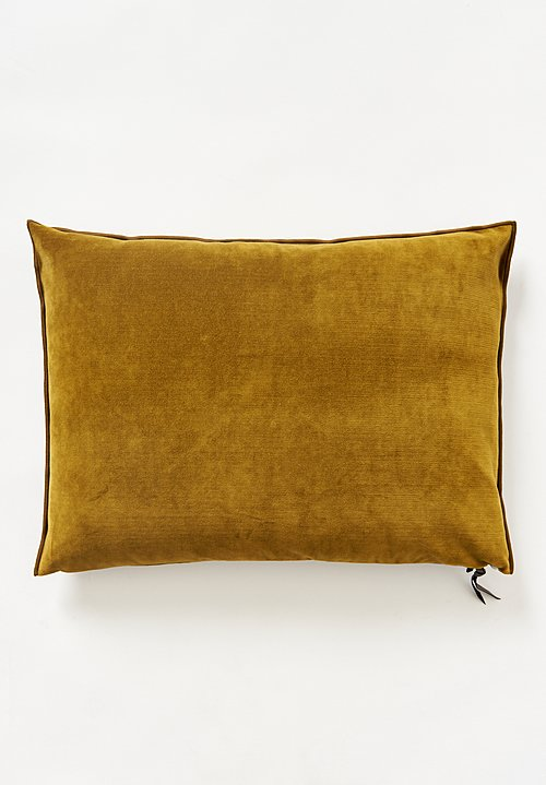 Maison de Vacances Large Vintage Velvet Pillow Ocre