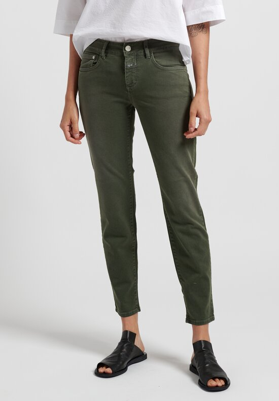 Closed Baker Cropped Narrow Jeans in Green