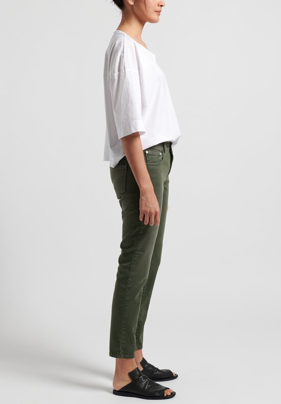 Closed Baker Cropped Narrow Jeans in Caper Green