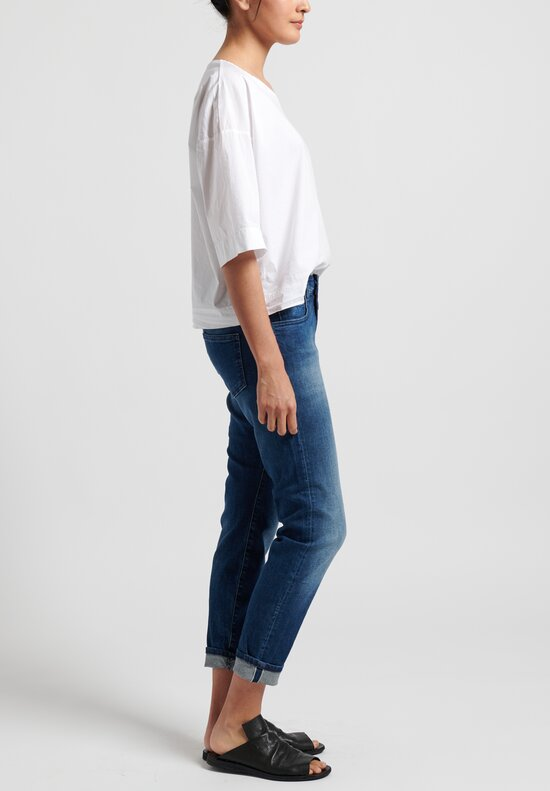 Closed Baker Faded Cropped Jeans in Mid Blue