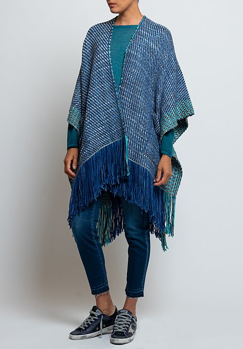 Wehve Handwoven Oversized Anastasia Cape in Maui White