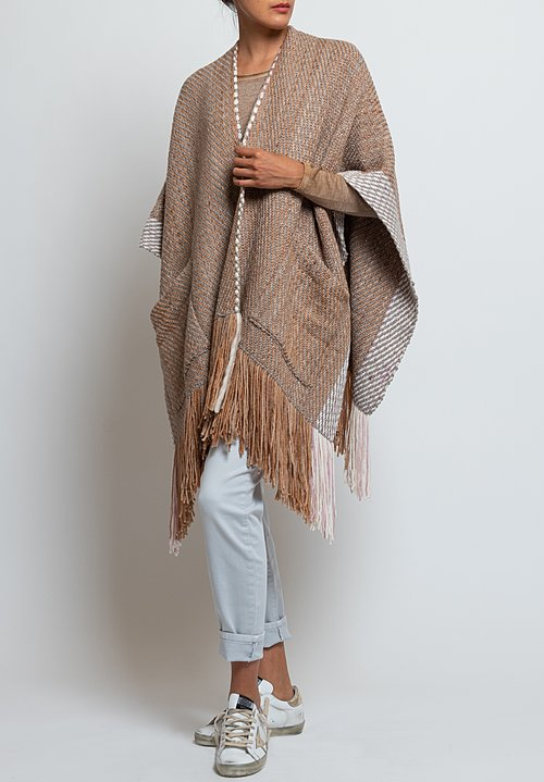 Wehve Handwoven Anastasia Pocket Cape in Baikal