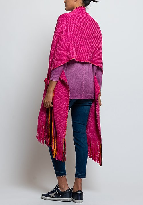 Wehve Handwoven Pocket Shawl in Rosa Mexicana