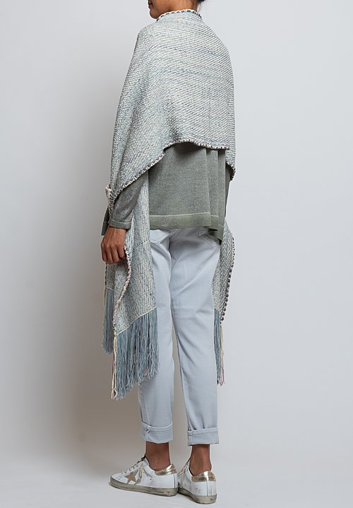 Wehve Handwoven Pocket Shawl in Sky