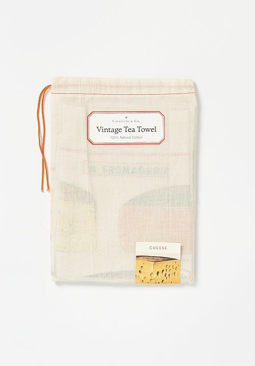 Natural Cotton Cheese Print Tea Towel