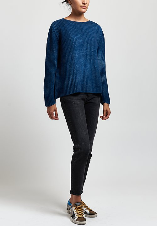Avant Toi Fisherman's Sweater in Deep