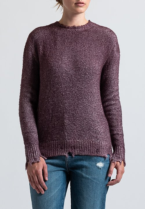 Avant Toi Destroyed Knit in Purple