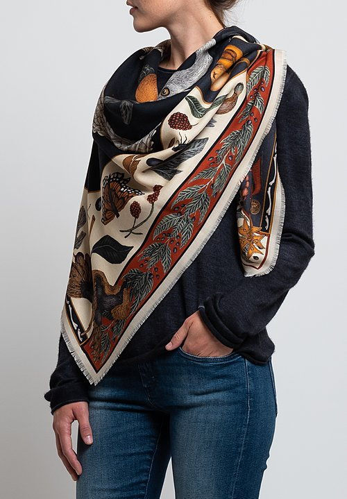 Sabina Savage Wool / Silk Alligator's Empire Scarf