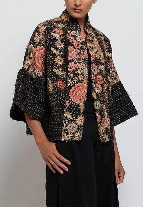 By Walid Piano Shawl Cassie Jacket in Pink/ Black