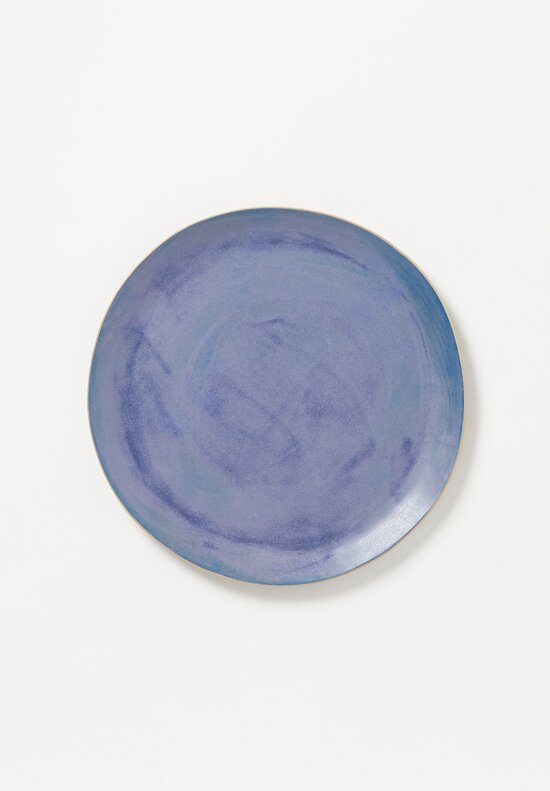 Laurie Goldstein Large Ceramic Dinner Plate in Blue