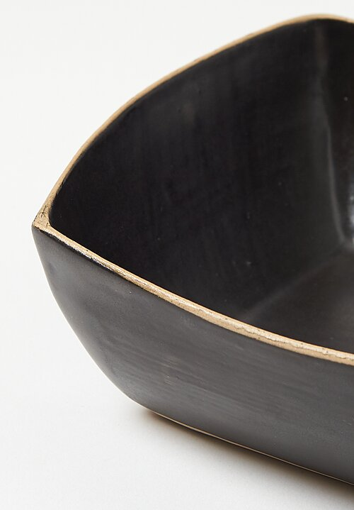 Laurie Goldstein Ceramic Square Bowl in Black