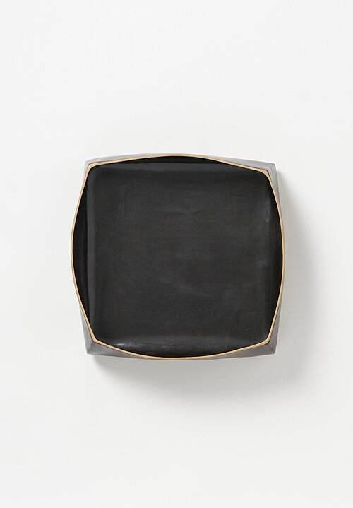 Laurie Goldstein Large Square Ceramic Serving Bowl in Black