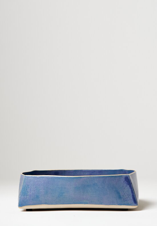 Laurie Goldstein Large Square Ceramic Serving Bowl in Blue