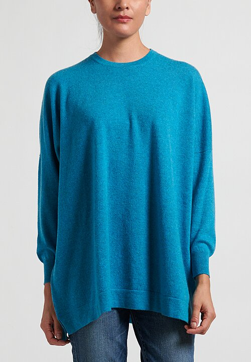 Hania New York Cashmere Marley Crewneck Sweater in Utopia Blue