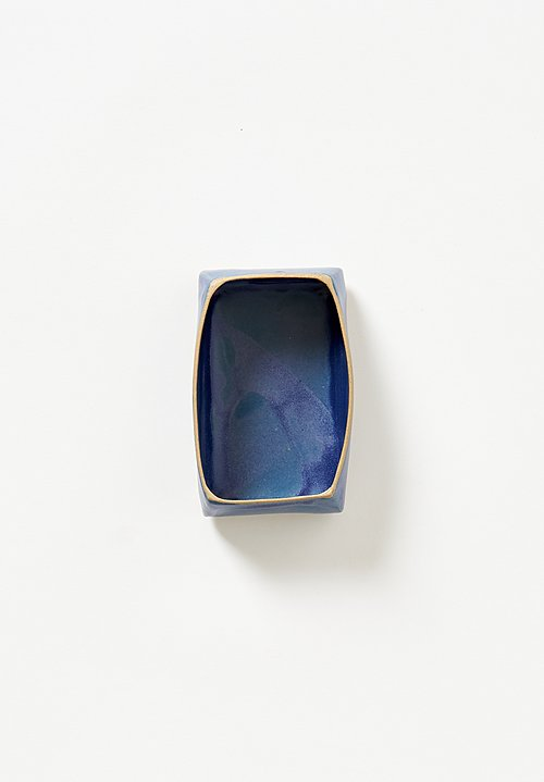 Laurie Goldstein Small Rectangular Bowl in Blue