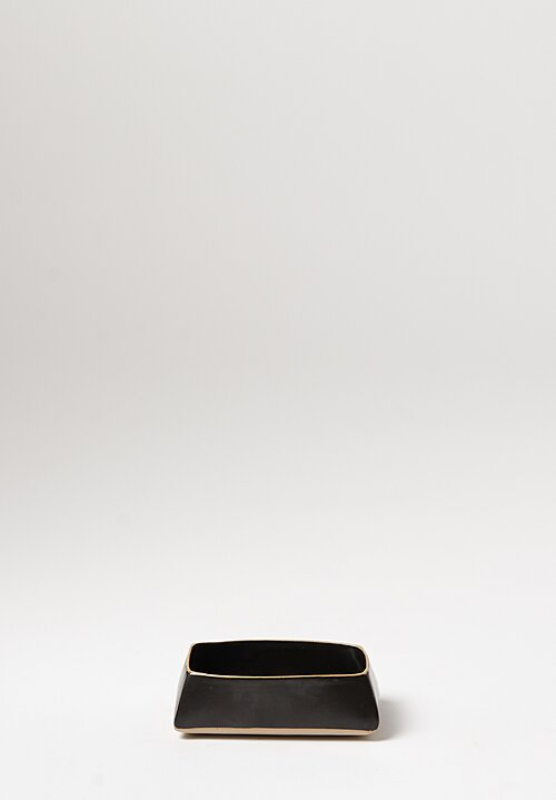 Laurie Goldstein Small Rectangular Bowl in Black