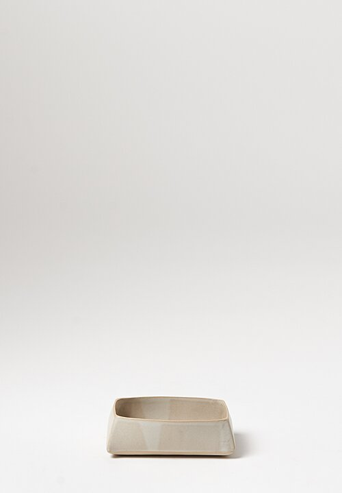 Laurie Goldstein Small Rectangular Bowl in White
