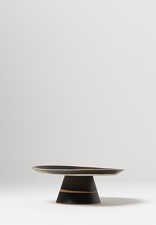 Laurie Goldstein Ceramic Dessert Stand in Black