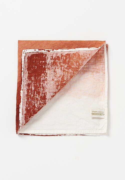 Bertozzi Linen Sfumato Napkin in Orange