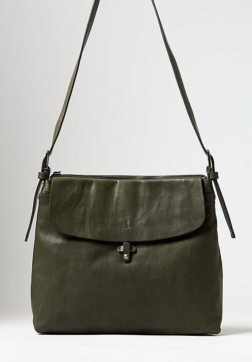 Massimo Palomba Eliza Tibet Shoulder Bag in Olive