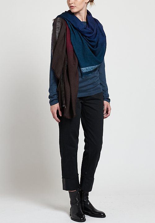 Faliero Sarti Maskara Scarf in Blue / Purple