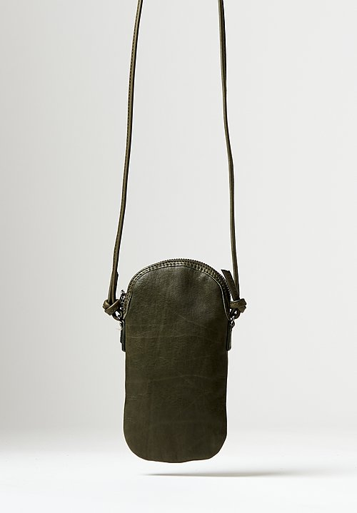 Massimo Palomba Mickey Tibet Pouch Bag in Olive