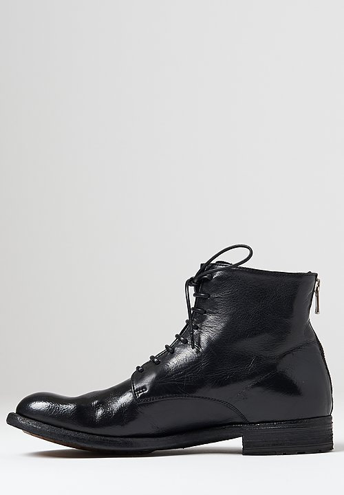 Officine Creative Lexikon Ignis Lace-Up Boot in Nero