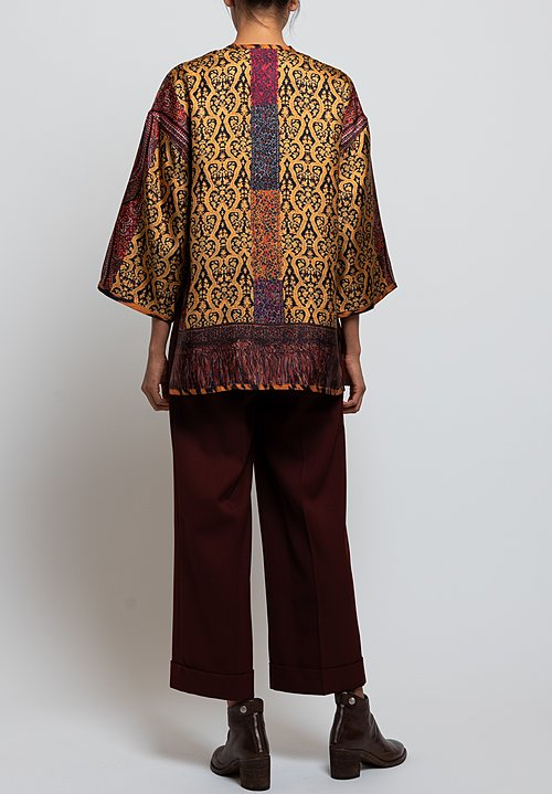 Etro Reversible Twill Kesa Jacket in Paisley/ Jaguar