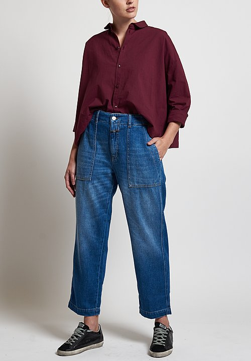 Closed Tony Broken-Twill Jeans in Mid Blue