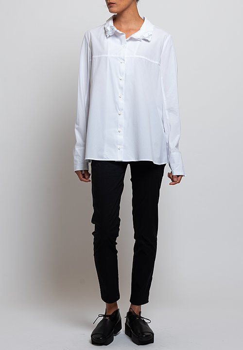 Rundholz Oversized Layered Collar Shirt in White