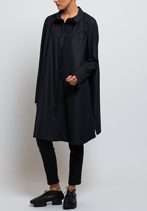 Rundholz Oversized Layered Collar Tunic in Black