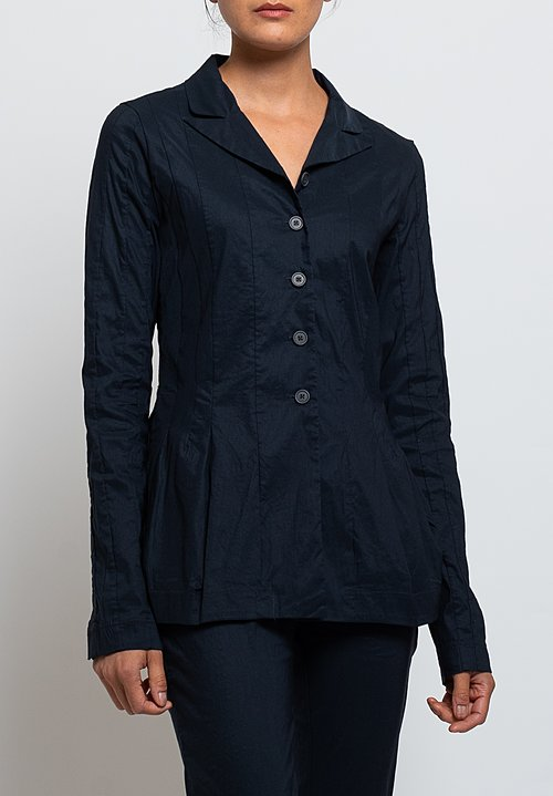 Rundholz Black Label Fitted Jacket in Dark Blue