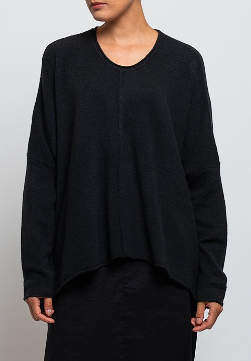 Rundholz Black Label Oversized A-Line Sweater in Black
