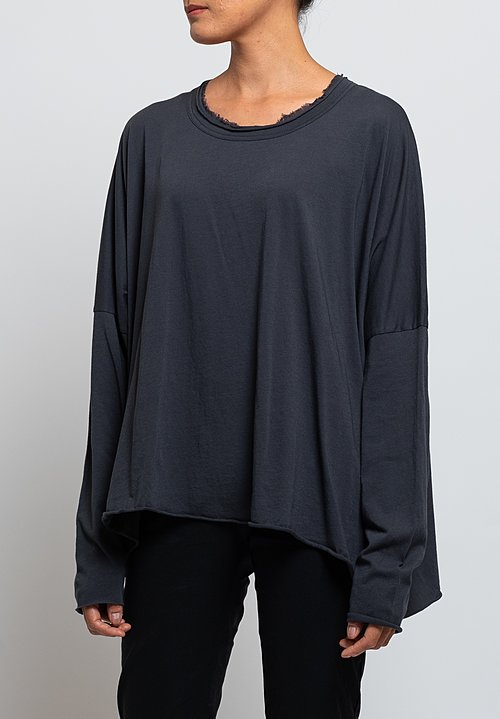Rundholz Black Label Oversized Jersey T-Shirt in Dark Grey