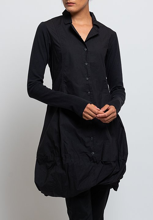 Rundholz Black Label Bubble Hem Dress in Black