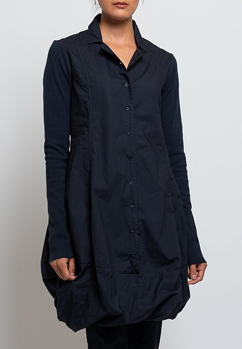 Rundholz Black Label Bubble Hem Dress in Dark Blue