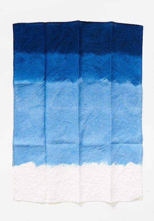 Bertozzi Handmade Linen Kitchen Towel in Bllue