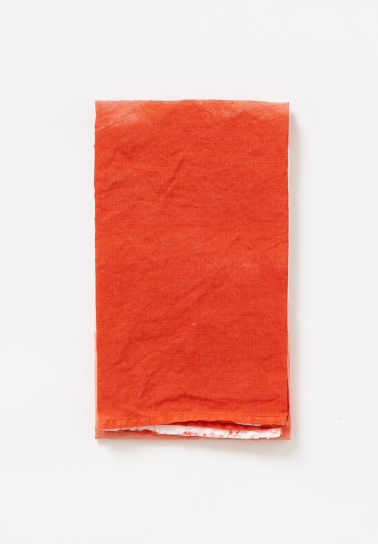 Bertozzi Handmade Linen Kitchen Towel in Orange