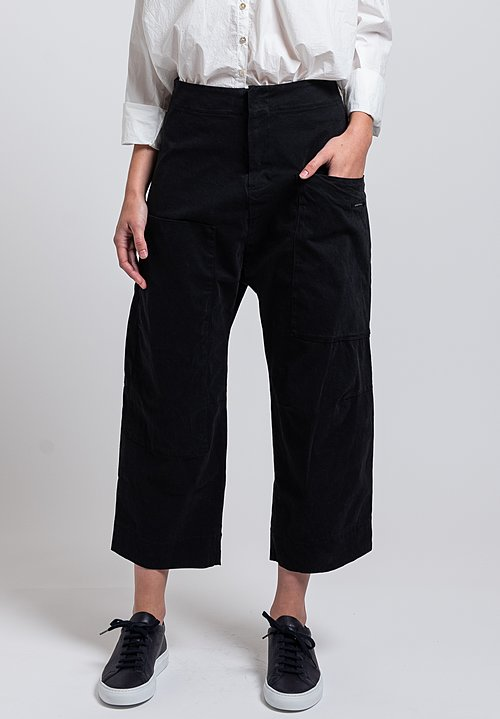 Album di Famiglia Pocket Trousers in Black