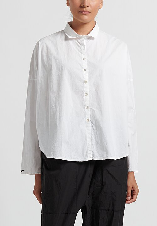 Album di Famiglia Long Sleeve Short Shirt in Milk