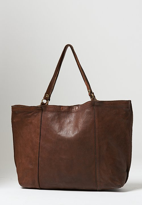 Campomaggi Large Rectangle Shopping Bag in Military