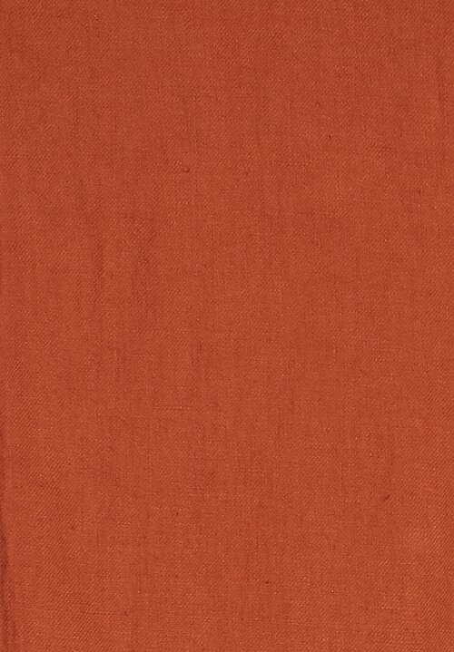 Himla Linen Jolin Throw in Orange
