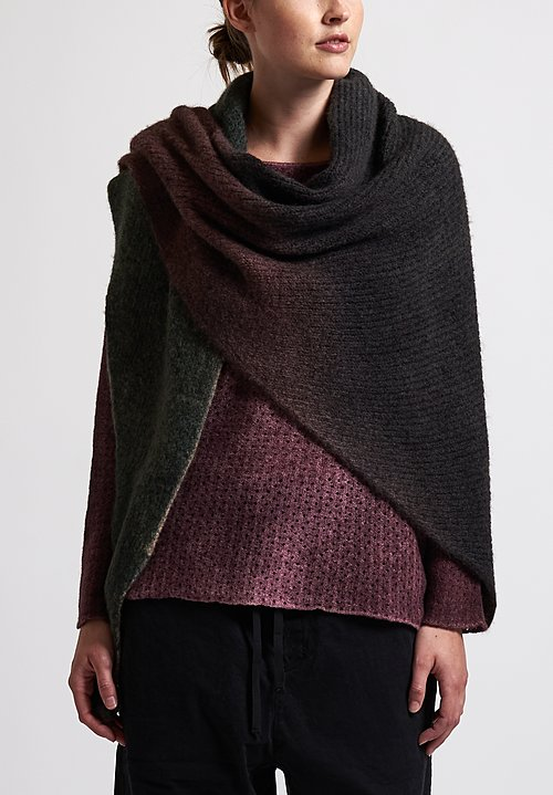 f Cashmere Ombre Scarf in Brown/ Green