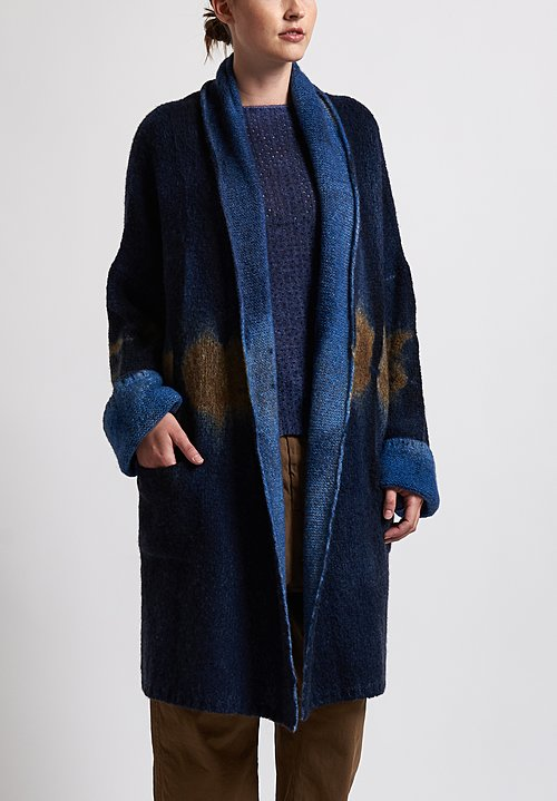 f Cashmere Ombre Jacket in Blue/ Natural