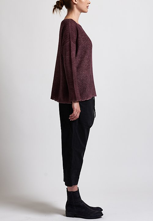 f Cashmere Perforated Sweater in Brick